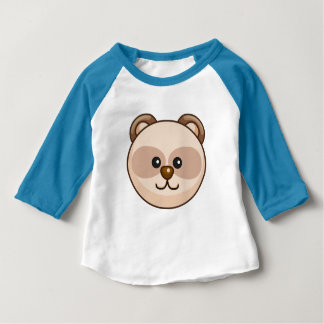 Cute Cream Bear Cartoon Neon Blue Custom Baby Baby T-Shirt