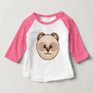 Cute Cream Bear Cartoon Pink Custom Baby Baby T-Shirt