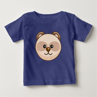 Cute Cream Bear Cartoon Royal Blue Custom Baby Baby T-Shirt