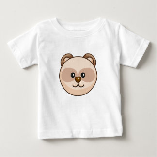 Cute Cream Bear Character Customizable Baby Baby T-Shirt