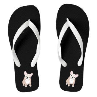 Cute Cream French Bulldog Flip Flops