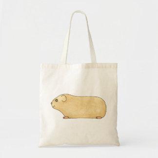 Cute Cream Guinea Pig. Canvas Bag