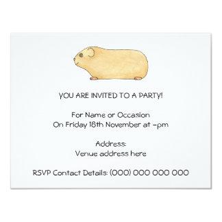 Cute Cream Guinea Pig. Card