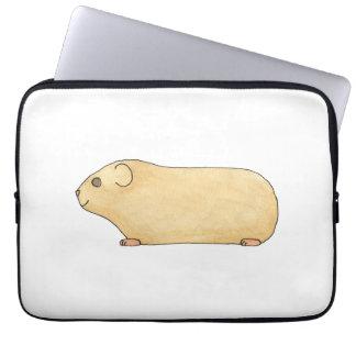 Cute Cream Guinea Pig. Laptop Computer Sleeves