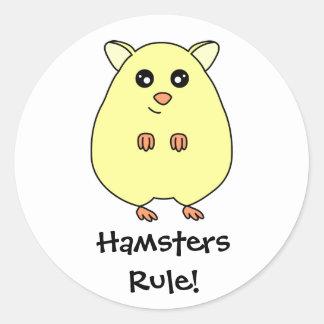 Cute Cream Hamsters Rule Stickers