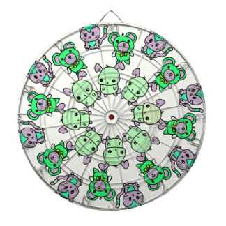 cute creatures dartboard with darts