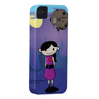 Cute creepy cartoon girl iPhone 4 Case-Mate case