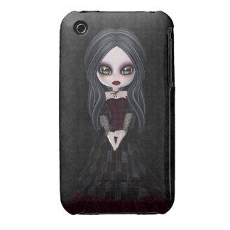 Cute & Creepy Goth Girl iPhone 3 Case