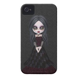 Cute & Creepy Goth Girl iPhone 4 Case
