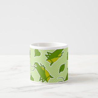 Cute Crickets and Leaves Pattern Espresso Cup