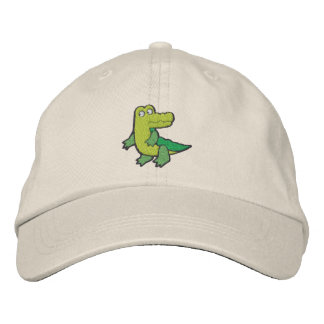 Cute Croc Alligator small Embroidered Hats