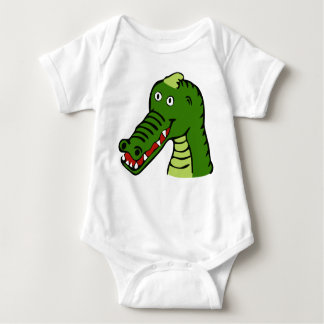 Cute crocodile baby bodysuit