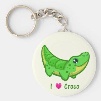 Cute crocodile love kawaii cartoon keychain