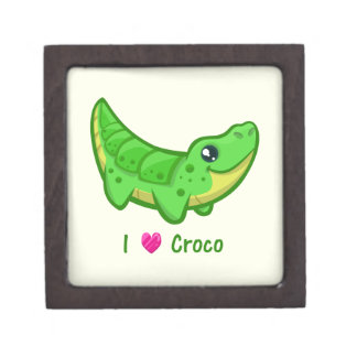 Cute crocodile love kawaii cartoon kids gift box