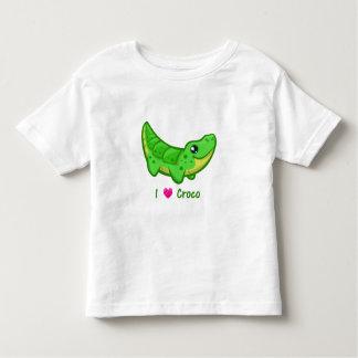 Cute crocodile love kawaii cartoon toddler shirt