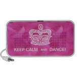 Cute Crown Feather Doodle Speaker Cover Pink