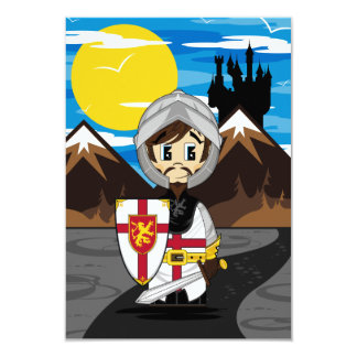Cute Crusader Knight RSVP Card