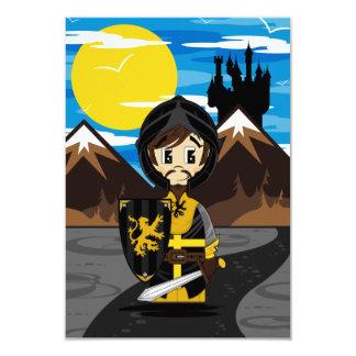 Cute Crusader Knight RSVP Card