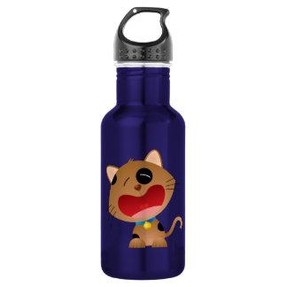 Cute Crying Cartoon Kitten 32 oz Stainless Steel Water Bottle
