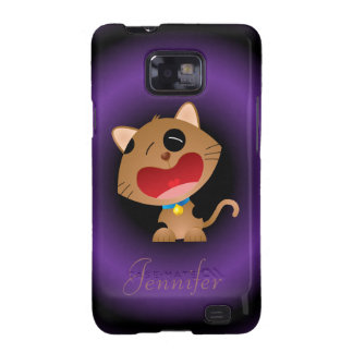 Cute Crying Cartoon Kitten Personalized Galaxy SII Covers