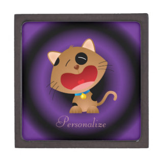 Cute Crying Cartoon Kitten Personalized Premium Gift Boxes