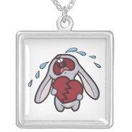 Broken Hearted Bunny Necklace