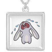 Bawling Bunny Pendant necklace