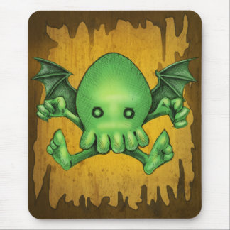 Cute Cthulhu Chibi Kneel Before Me Mouse Pad