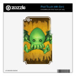 Cute Cthulhu Chibi Kneel Before Me iPod Touch 4G Decal