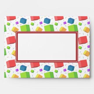 Cute Cubes Envelope