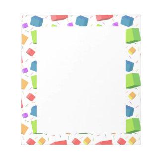 Cute Cubes Notepad
