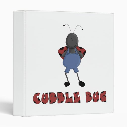 cute cuddle bug ladybug character 3 ring binders