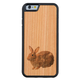 Cute Cuddly Adorable Cottontail Wild Bunny Rabbit Carved Cherry iPhone 6 Bumper Case