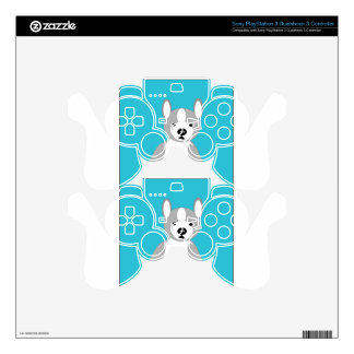 Cute cuddly and Lovable Boston Terriers Decal For PS3 Controller