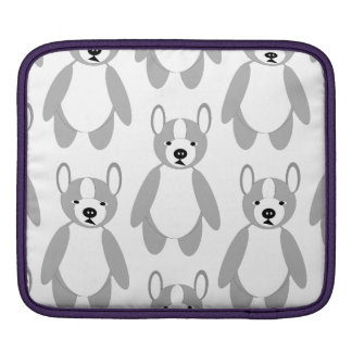 Cute cuddly and Lovable Boston Terriers iPad Sleeve