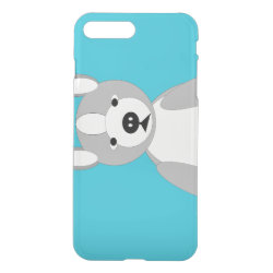 Uncommon iPhone 7 Plus Clearly™ Deflector Case with Bull Terrier Phone Cases design
