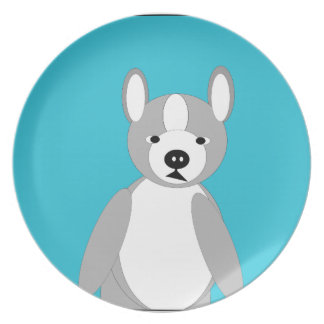 Cute cuddly and Lovable Boston Terriers Melamine Plate