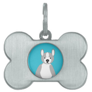 Cute cuddly and Lovable Boston Terriers Pet Name Tag