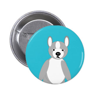 Cute cuddly and Lovable Boston Terriers Pinback Button