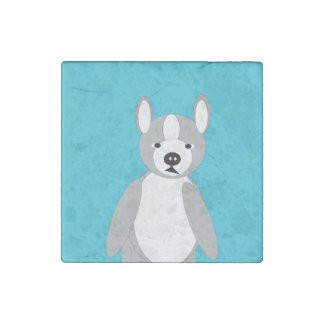Cute cuddly and Lovable Boston Terriers Stone Magnet