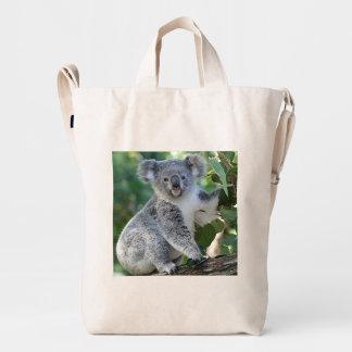 Cute cuddly Australian koala Duck Bag