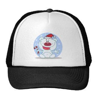 Cute cuddly bear christmas holiday design hat