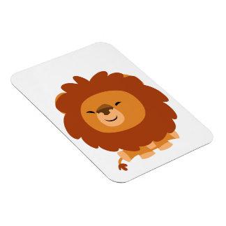 Cute Cuddly Cartoon Lion Flexible Magnet