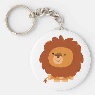 Cute Cuddly Cartoon Lion Keychain
