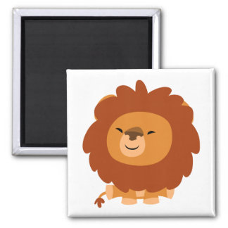 Cute Cuddly Cartoon Lion Magnet