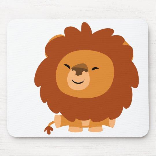 Cute Cuddly Cartoon Lion Mousepad