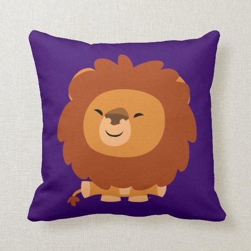 Cute Lion Pillow : Cute Cuddly Cartoon Lion Pillow Zazzle