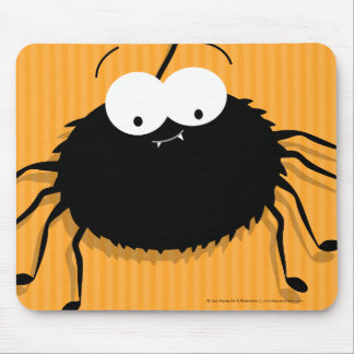 Cute Cuddly Cartoon Spider Halloween Mousepads