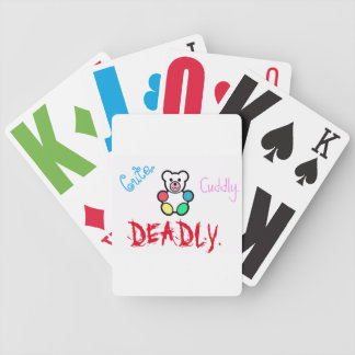 Cute.Cuddly.Deadly Bicycle Playing Cards