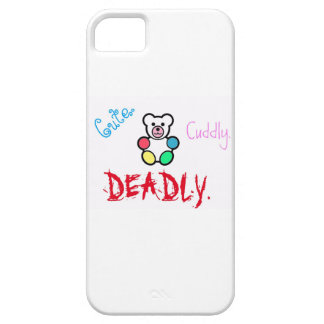 Cute.Cuddly.Deadly iPhone SE/5/5s Case